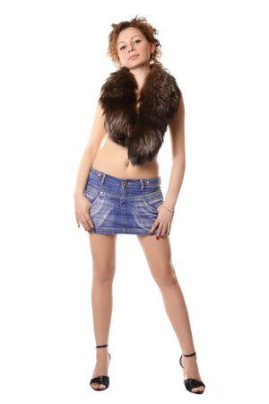 girl in a short skirt Stock Photo - 3112622