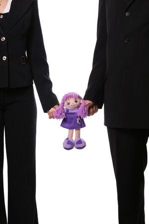 kept: Man and woman kept dolls