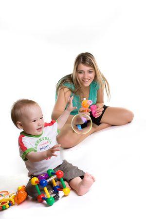 mother to be: Madre con un bambino pu� essere bolle