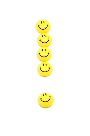 ejaculation: Image of exclamation mark made of yellow smileys
