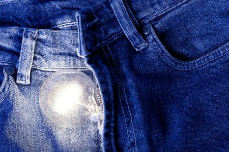 The image of the glowing light in the pants. idea. Stock Photo - 4710974