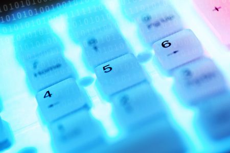 Abstract image of a computer keys Stock Photo - 6011459
