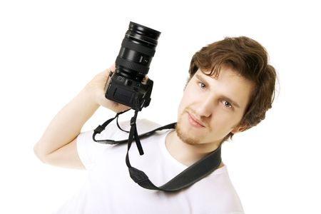 Image of a man photographer photo