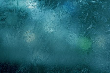 Image of the night window frosting photo