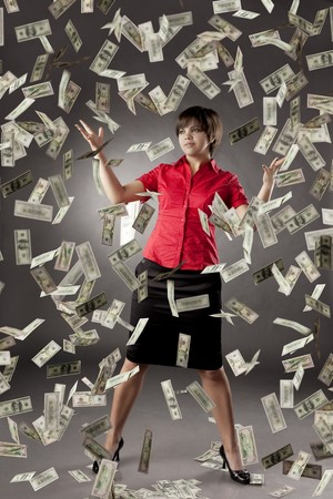 The image of a girl who has a lot of money Stock Photo - 7624196