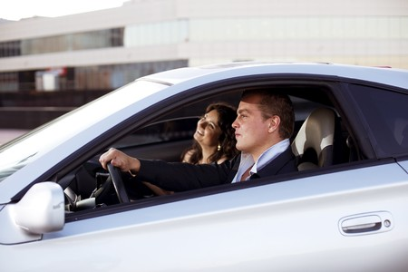 The image of a family quarrel driving Stock Photo - 7623465