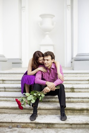 The image of two lovers on a date Stock Photo - 7623924