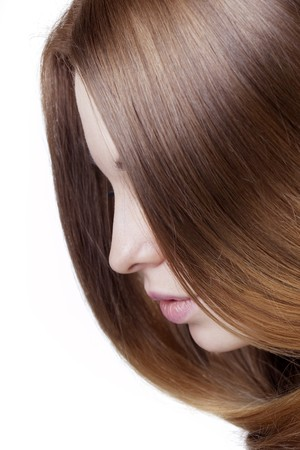 The image of a girl with beautiful hair photo