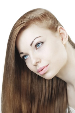The image of a beautiful young girl with long hair Stock Photo - 7623684