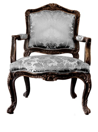 antique fashion: Images of luxury vintage chair on a white background