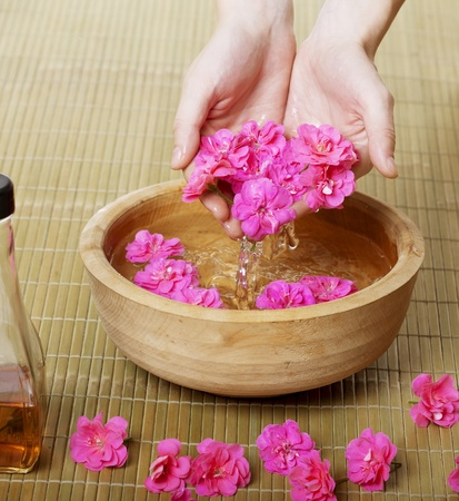 Image of spa hands Stock Photo - 9038282