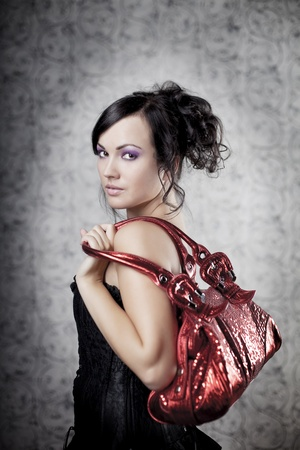 Image of a luxury  woman with bag photo