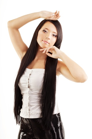 The image of a woman with a luxuus, shiny and beautiful hair Stock Photo - 9037640