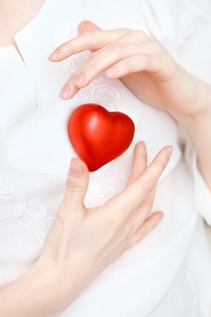 heart healthy: Image of hands store heart