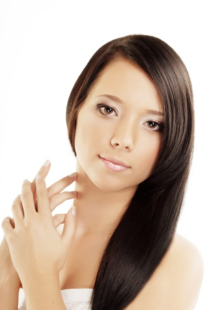 Image of gorgeous girls with beautiful hair Stock Photo - 10705051