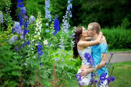 Image of lovers in the park on a date Stock Photo - 10705281