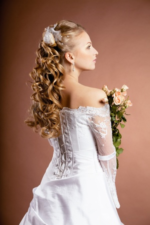 Image of luxury bride with wedding hairstyle Stock Photo - 10705265