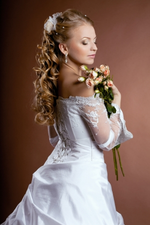 Image of luxury bride with wedding hairstyle Stock Photo - 10705262