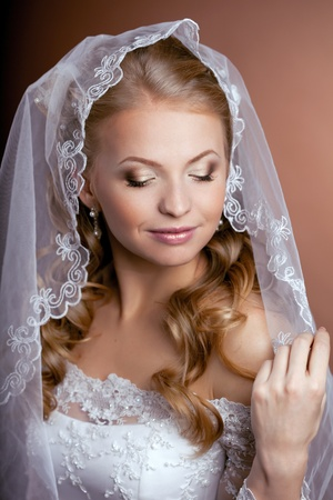 The image of a beautiful bride photo