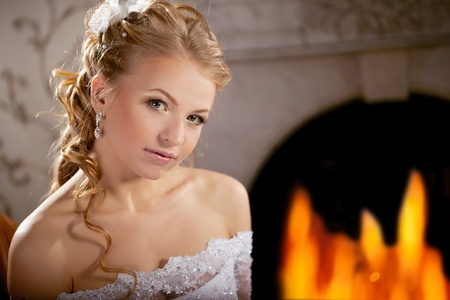 Image of luxury bride on a bright background Stock Photo - 10705121