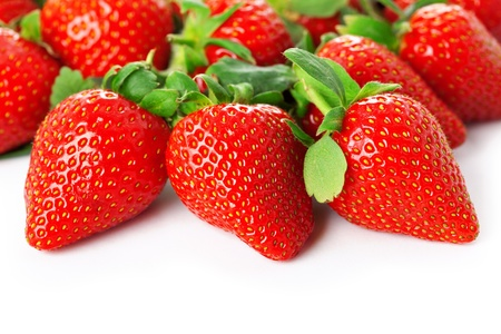 Image of a bright juicy fresh strawberries photo