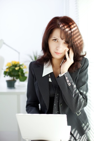 Business Woman talking on the phone Stock Photo - 10705166