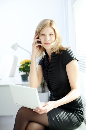 Image of business woman in the workplace Stock Photo - 10705225