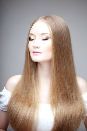 The image of a woman with luxurious hair photo