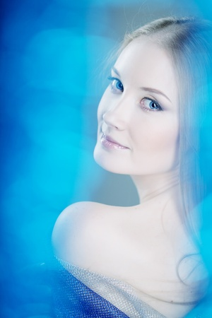 The image of the girl, snow queen photo