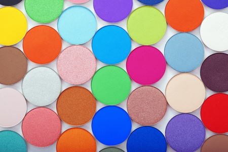The image of colorful bright eye shadow