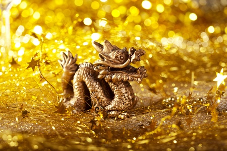 Dragon symbol of the year 2012 on a bright background bokeh Stock Photo - 11527591