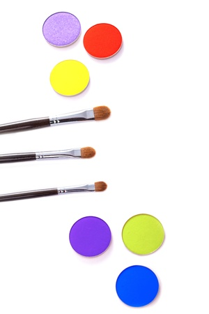 visagiste: Eye shadow and brushes