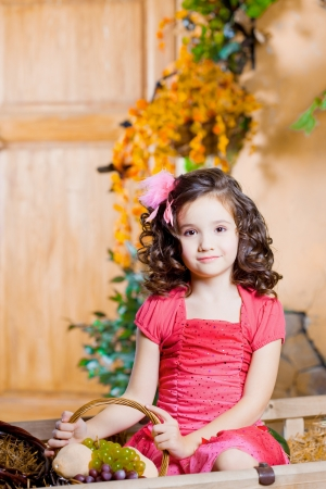 The image of a child, a little beautiful girl Stock Photo