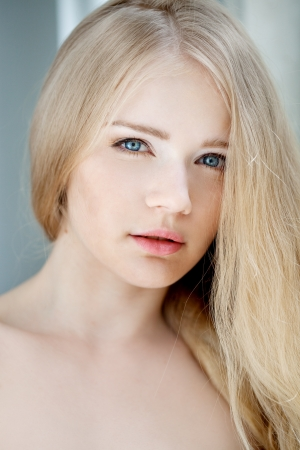 Glamour portrait of young beautiful woman photo