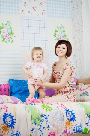 baby nursery: The family, the daughter and mother