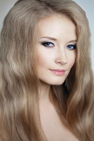 Beautiful woman with a volumetric hair Stock Photo - 14797713