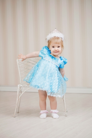 Cute girl, a child in a blue dress Stock Photo - 16087349