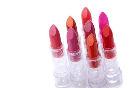 lipstick tube: Lipstick on white background