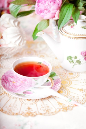 Tea in the Shabby Chic style photo