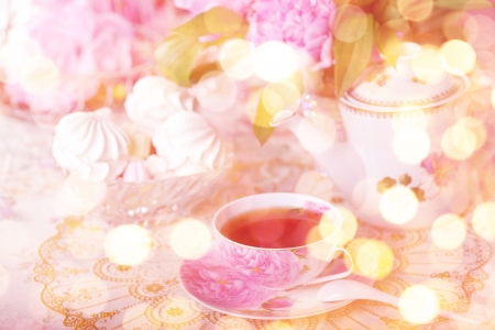chic: Tea in the Shabby Chic style Stock Photo