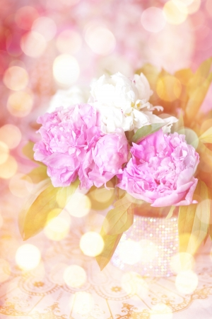 Peony in the Shabby Chic style photo