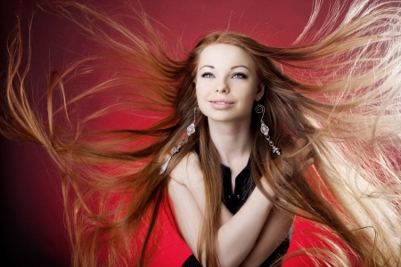 Woman with long luxury hair Stock Photo - 22102482