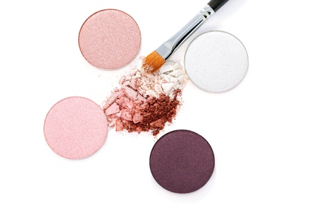 Bright eye shadows on white Stock Photo - 22045717