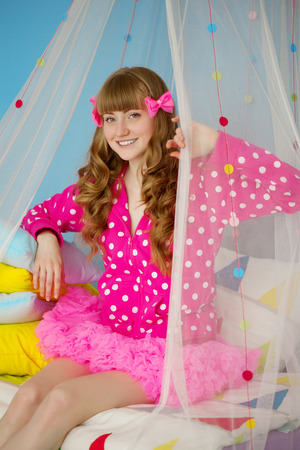 babydoll: Woman like a doll in a babys room
