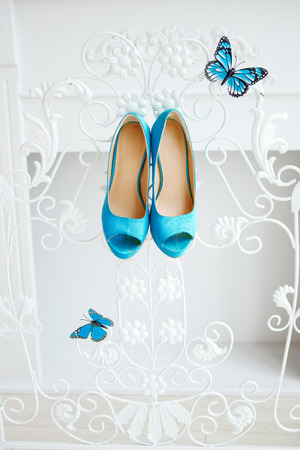 wedding accessories: Beautiful wedding accessories for the bride, shoes