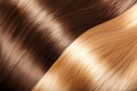 Shiny texture luxurious hair Stock Photo