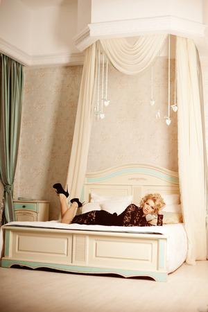Beauty rich luxury woman like Marilyn Monroe.  photo