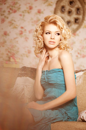 blondy: Beauty woman. Face of a young beautiful smiling blondy girl