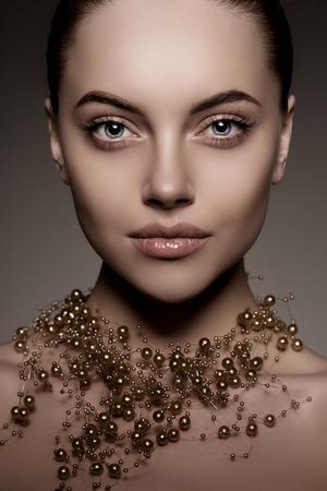 ファッション性の高いモデルの女の子。 写真素材
