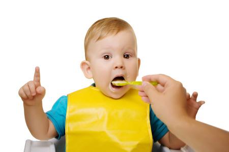 baby food: Baby eating spoon baby food jar.